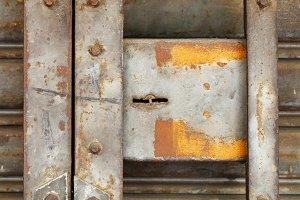 rusty steel shutter door