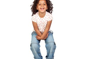 Beautiful african child with jeans