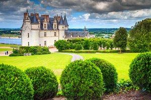 Amboise castle in Loire valley