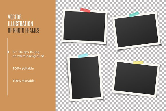 Photo Frames With Adhesive Tape