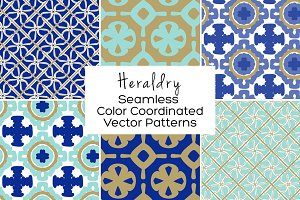 Heraldry Seamless Vector Patterns