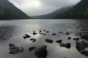 Rocks Lake and Mountains