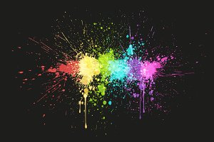 Paint Splash: 6 Backgrounds