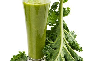 Smoothie from kale.