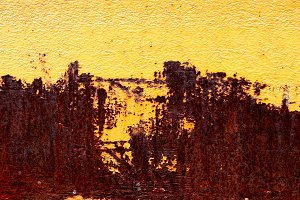Yellow paint and rust digital photo