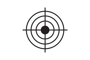 Gun target icon. Vector
