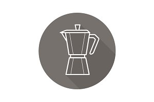 Moka pot icon. Vector