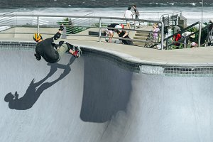 Skateboarder spin off