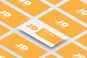 Isometric Business Cards Mockups