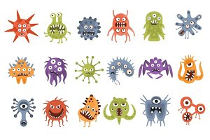 Aggressive Fantastic Monster Microorganisms Set