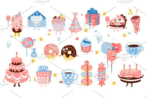 Kid Birthday Party Sweets And Attributes
