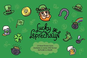 Lucky Leprechaun Icon Collection