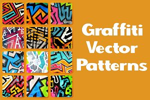 Graffiti vector patterns pack