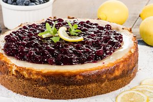 Blueberry lemon cheesecake