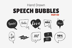Hand Drawn Speech Bubbles [Part 00]
