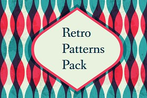 Retro vector patterns pack