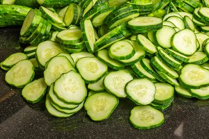 Cucumber or pickle slices