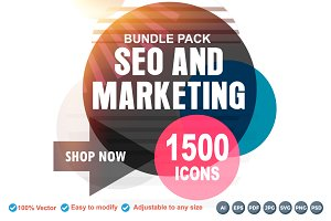 1500 SEO and Marketing Icons