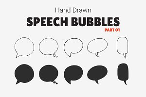 Hand Drawn Speech Bubbles [Part 01]