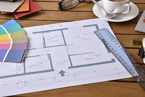Plan tools and samples decoration