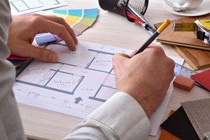 Designer creating decoration project