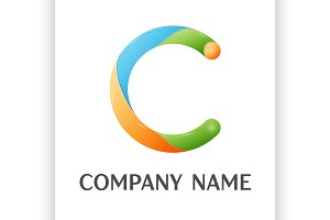 C letter colorful logo