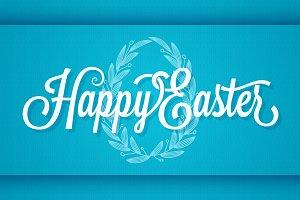 Easter Vintage Lettering. Egg