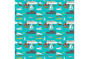 Sea transport pattern vector.