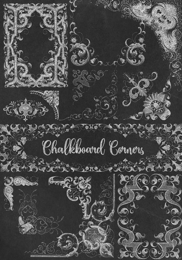 Chalkboard Corners Clipart