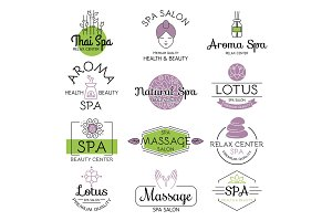Vector health and beauty care spa badge.