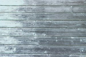 Light blue old wooden planks