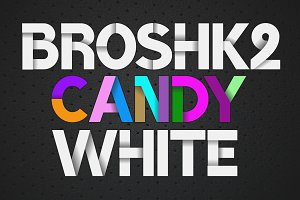 Color fonts BroshK2-candy & white