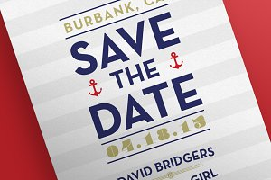 Save the Date - Nautical Postcards