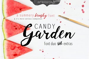 Candy Garden Font Duo + EXTRAS