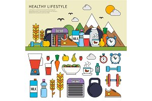 Healthy lifestyle set