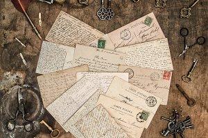 Vintage handwritten love letters