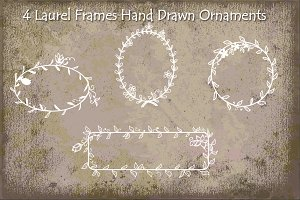 Laurel Frames Hand Drawn