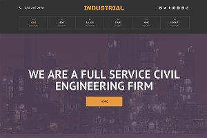 Industrial Responsive One Page Theme