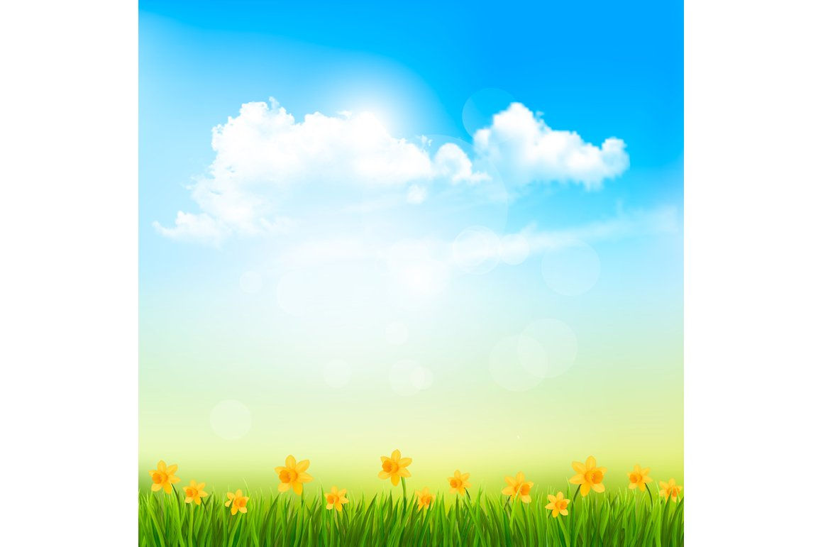 Spring Nature Background ~ Illustrations ~ Creative Market
