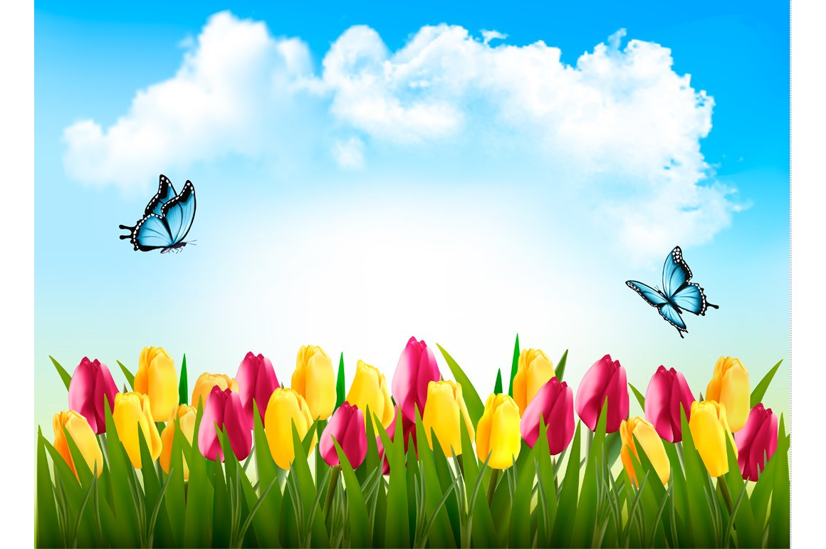Nature Spring Background Illustrations Creative Market