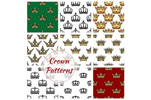 Royal crown seamless pattern background