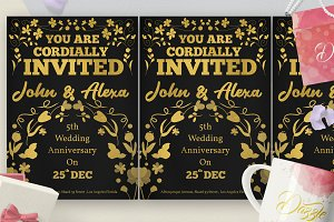 Gold Florist Wedding Anniversary