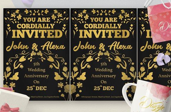 Gold Florist Wedding Anniversary