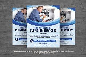 Plumbing Services Flyer Vol. 2