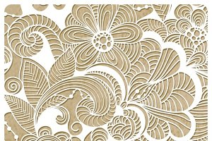 Vector  Winter Lacy Pattern