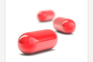 Pills capsules isolated