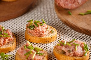 Pate with fresh baguette
