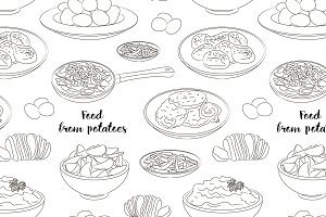 Food from potatoes pattern