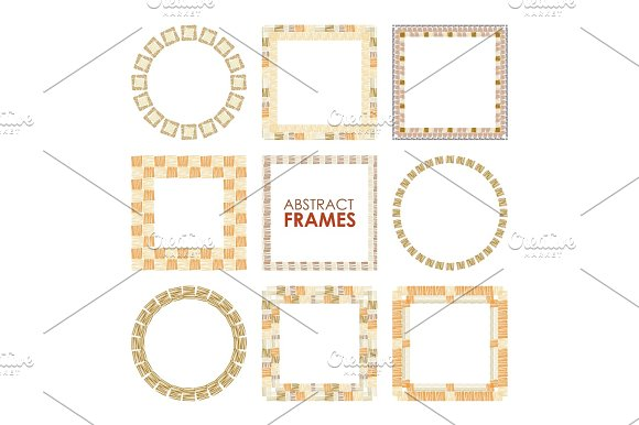Ethnic Vector Frame Set
