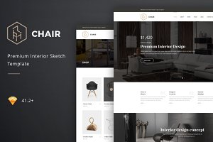 Chair – Interior Sketch Template